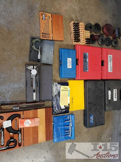 Micrometers, Telescoping Guage Set, Fowler Universal Test Set, and More