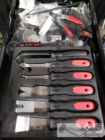 Mac Tools Panel Popper Set, Headlight Adjustment Tool, Suction Cups, and More