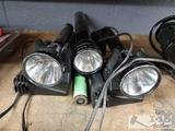 3 Flashlights with Chargers and Battery