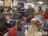 Huge Lot of Automotive Parts, Blast Cabinet, White Industries AC Machine, Custom Cart, and so Much