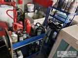 Roll Cart and Shelving Unit with Oil Filter Wrenches