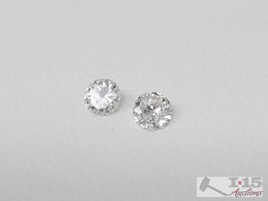 Two 1/16ct Loose Diamonds