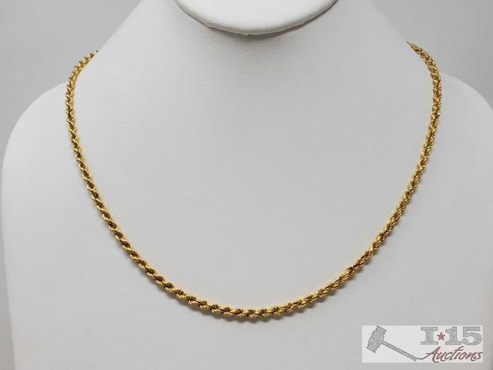 14k Gold Rope Chain, 5.8g