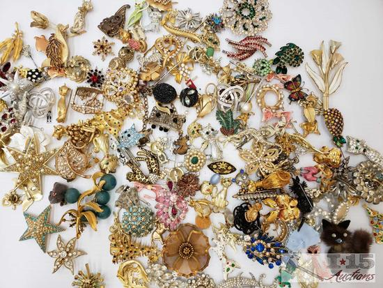 Assorted Pins, Brooches and More