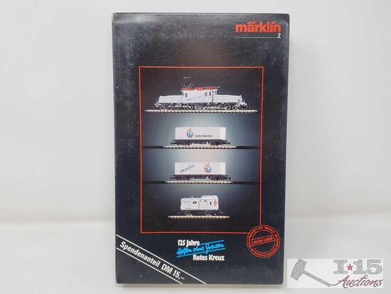 Marklin Mini-Club Z Scale 125th Anniversary Red Cross Train Set - 8114