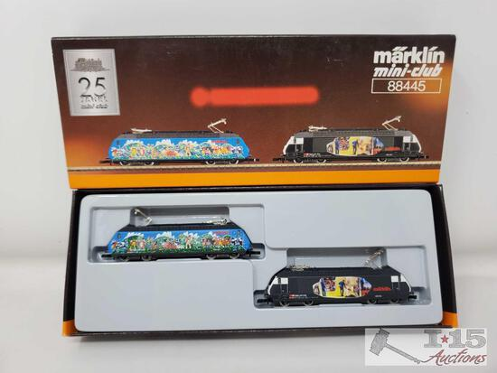 Marklin Mini-Club Z Scale Double Electric Locomotive Train Set - 88445