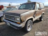 1987 Ford Bronco II, Cranks Does NOT Start Sold on NON OP