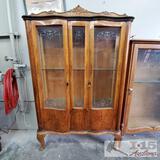 Antique Wood Cabinet w/ Carved Wood Trim