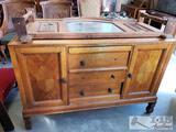 Antique Wood Dresser w/ Mirror