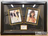 Gina Gershon Autographed Wall Hanging Signed Index Card