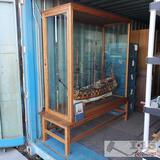 Henry Huddleston Rogers Ship Model w/ Large Wood & Glass Case