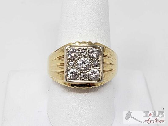14k Gold Diamond Ring, 10.7g
