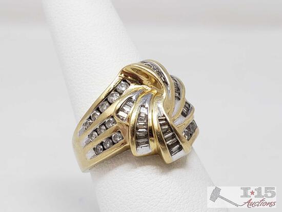 14k Gold Diamond Ring, 8.4g