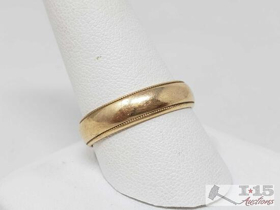14K Gold Mens Wedding Band