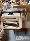 Vintage School Desk and Remington Type Writer