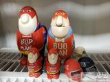 Budweiser Budman Figurines