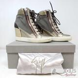 Authentic High Top Giuseppe Zanotti Wedge Sneakers Size 39/8