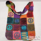 Colorful Peace Sign Over The Shoulder Handbag