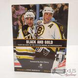Global Authentics COA Signed Boston Bruins Black and Gold Book