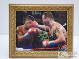 James Spence Authentic COA Signed Colored Boxing