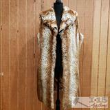 Curations Womens Long Fur Coat, L