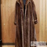 Pamela McCoy Womens Long Fur Coat,L