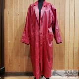 Caspi and Leather Long Coat, XL