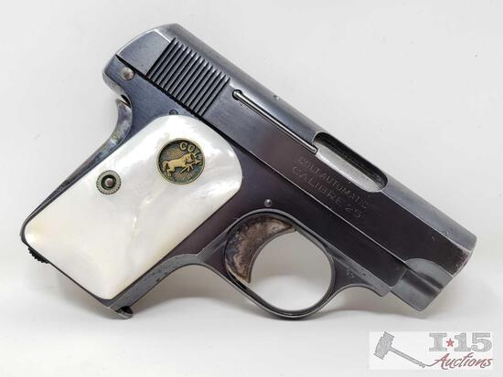 "Colt 1908 ""Vest Pocket"" .25cal Semi-Auto Pistol with Magazine and Box"