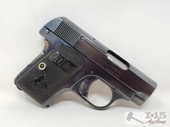 "Colt 1908 ""Vest Pocket"" .25cal Semi-Auto Pistol with Magazine"
