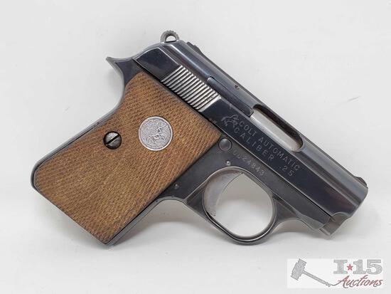 """Colt 1908 """"Vest Pocket"""" .25cal Semi-Auto Pistol"""