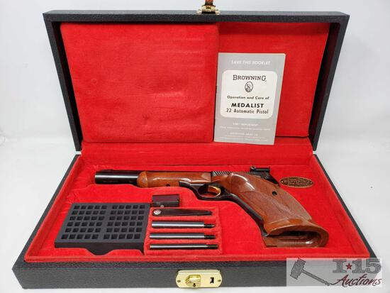 Browning Medalist .22lr Semi-Auto Pistol with Red Velvet Lined Display Box