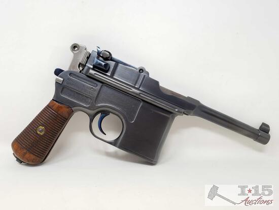 "Mauser C96 ""Broomhandle"" 7.63x25 Semi-Auto Pistol"