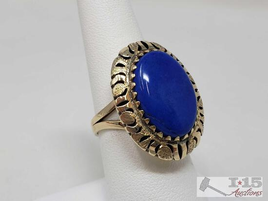 14k Gold Ring, Weighs Approx 7.5g