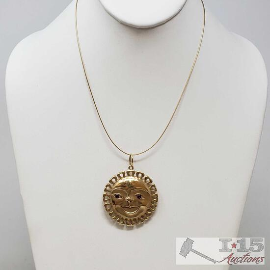14k Gold Necklace, Weighs Approx 30.4g