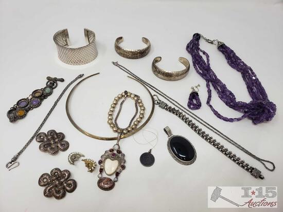 Sterling Silver Jewelry Pendants, Earrings, Bracelets and More!