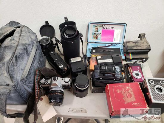 Canon AE-1 Camera, Vivitar Cameras, Ansco Shur Shot, Vivitar Lenses, amd More