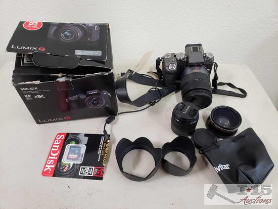Lumix G DMC-G7K 4K Digital Camera and 3 Lenses
