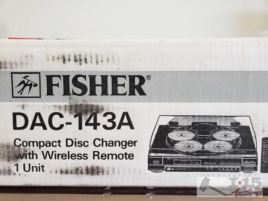 NIB Fisher DAC-143A 5 CD Changer with Remote