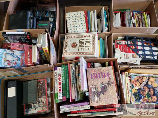 Books, Cookbooks, VHS Tapes, and more!
