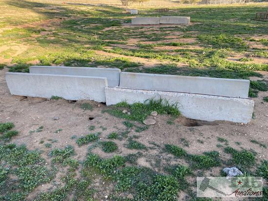4 Concrete Horse Troughs