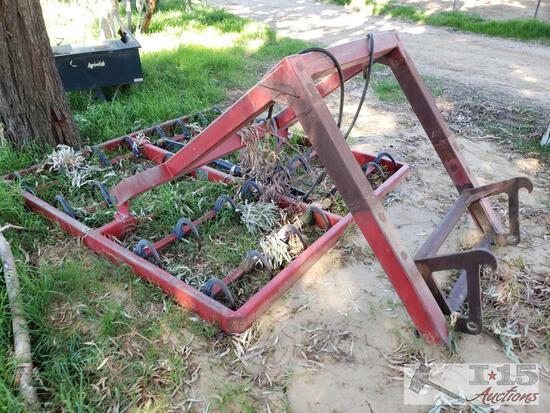 Steffen Hydraulic 8 Bale Hay Accumulator Tractor Attachment