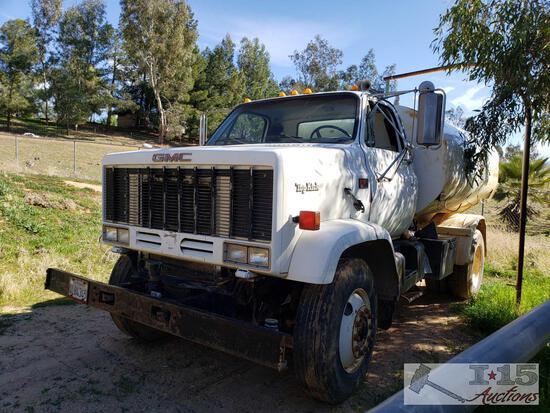 1989 GMC Top Kick 7000 Diesel Water Truck