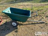 High Country Plastics tow behind cart with dump