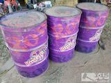 3 Rowdy Rose 55 Gallon Barrels