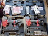 2 Senco Air Staple Guns with Boxes of Staples
