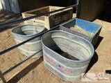 2 Tarter Stock Tanks (70 gallon) and 2 produce crates