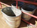 3 Tarter 70 Gallon Water Troughs