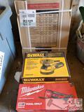 New DeWalt Orbit Sander, Milwaukee Multi-Tool, and Murray Circuit Breaker