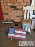 Wooden Chest, Magazine Rack and House Decor