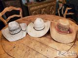 3 straw hats